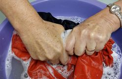 Lavado de la mano. Fotos de archivo