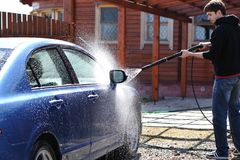 Lavado del coche Imagen de archivo libre de regalías