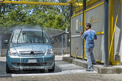 Lavado del coche foto de archivo