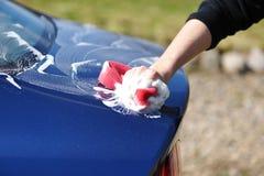 Lavado del coche fotografía de archivo
