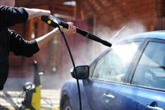 Lavado del coche Foto de archivo libre de regalías