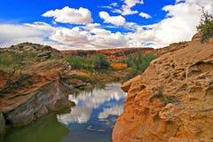 Lavado del desierto en parque nacional de los arcos Foto de archivo