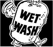 Lavado mojado ilustración del vector
