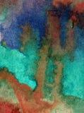 Lavado mojado texturizado colorido bajo el agua brillante oscuro coralino del desbordamiento del océano del fondo del arte de la  libre illustration