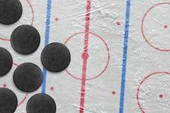 Lavadoras en arena del hockey Imágenes de archivo libres de regalías
