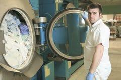 Lavadoras industriales Fotografía de archivo libre de regalías