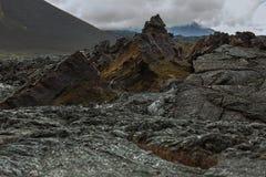 Lavafeld an Tolbachik-Vulkan, nach Eruption im Jahre 2012, Klyuchevskaya-Gruppe Vulkane Lizenzfreie Stockfotos