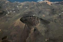 Lavafeld und Vulkanküstenlinie Lizenzfreies Stockfoto