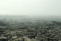 Lavafield Rauch Stockbild