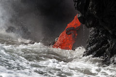 Lavafluss Lizenzfreies Stockfoto