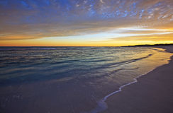 Lavage 1 de plage de matin images libres de droits