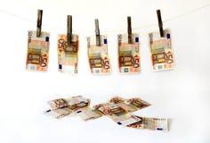 Lavage d'argent Image stock