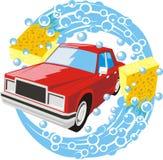 Lavage d'un véhicule Photo libre de droits