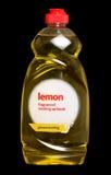 Lavage de citron vers le haut de liquide Photos stock