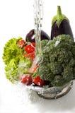 lavage de légumes Images stock