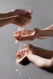 lavage de mains Photographie stock