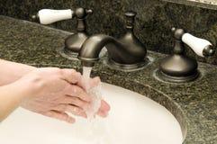 lavage de mains Photo libre de droits