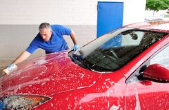 Lavage de véhicule. Photo stock