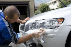 lavage de véhicule Photo libre de droits