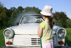 lavage de véhicule Photos libres de droits