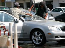 Lavage de voiture Photos libres de droits