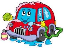 Lavage de voiture de dessin animé illustration de vecteur