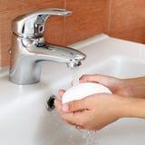 Lavage des mains Image libre de droits