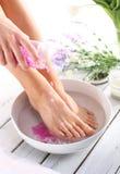 Lavage des pieds Image libre de droits