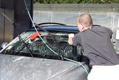 Lavage du véhicule Photos libres de droits