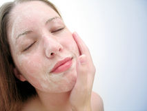 Lavage facial 3 photos libres de droits