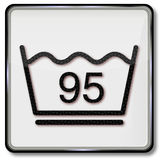 le symbole de lavage de 90 degr s en or a isol 3d photographie stock libre de droits image. Black Bedroom Furniture Sets. Home Design Ideas