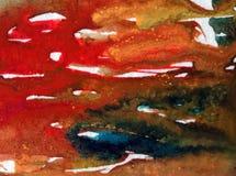 Lavage humide texturisé coloré de belle surface d'algue d'abrégé sur fond d'art d'aquarelle brouillé Photos stock