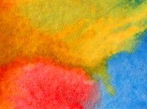 Lavage humide texturisé moderne de ciel de fond d'abrégé sur art d'aquarelle le beau d'éclat frais du soleil a brouillé l'imagina Images libres de droits