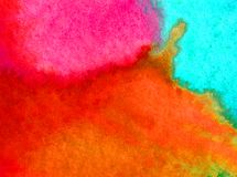 Lavage humide texturisé moderne de ciel de fond d'abrégé sur art d'aquarelle le beau d'éclat frais du soleil a brouillé l'imagina Image libre de droits