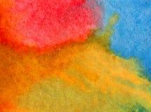 Lavage humide texturisé moderne de ciel de fond d'abrégé sur art d'aquarelle le beau d'éclat frais du soleil a brouillé l'imagina Photos stock