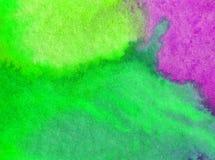 Lavage humide texturisé moderne de colorant de ressort de fond d'abrégé sur art d'aquarelle le beau a brouillé l'imagination Image stock
