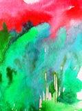 Lavage humide texturisé moderne de forêt de paysage de fond d'abrégé sur art d'aquarelle le beau d'arbres modernes de colline a b Photographie stock libre de droits