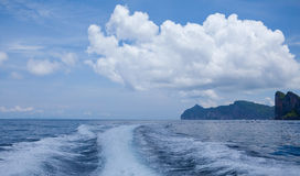 Lavage rapide de support de bateau Images libres de droits