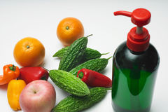 Lavage végétal organique Photographie stock