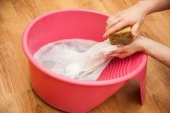 Lavagem da mão Foto de Stock