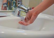 Lavagem da mão Imagens de Stock