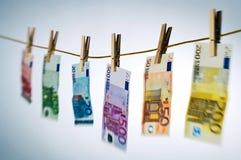 Lavagem da nota do Euro Imagem de Stock Royalty Free