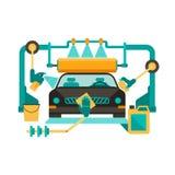 Lavagem de carros automática Imagens de Stock Royalty Free