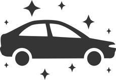 Lavagem de carros - brilhe brilhante novo limpam ilustração royalty free