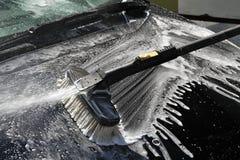 Lavagem de carros da mão Fotos de Stock