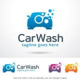 Lavagem de carros Logo Template Design Vetora foto de stock royalty free