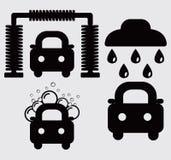 Lavagem de carros, portal, espuma ativa Imagem de Stock