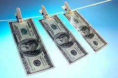 Lavagem de dinheiro Foto de Stock