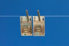 Lavagem de dinheiro. Fotos de Stock Royalty Free
