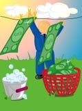 Lavagem de dinheiro ilustração do vetor